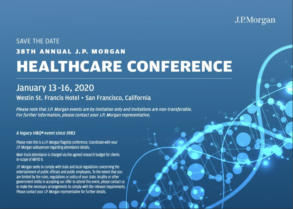 JP Morgan Healthcare Conference 2020